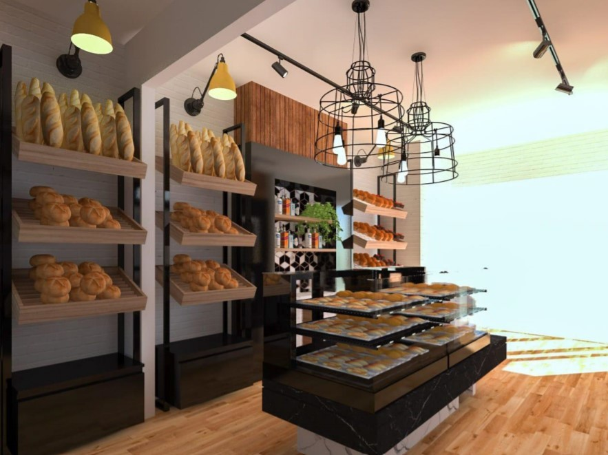 Proposed interior for the bakery (Platinum Architecture)