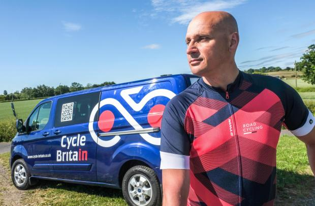 Knutsford Guardian: Alan Little of Cycle BritainPhotograph by Howard Barlow