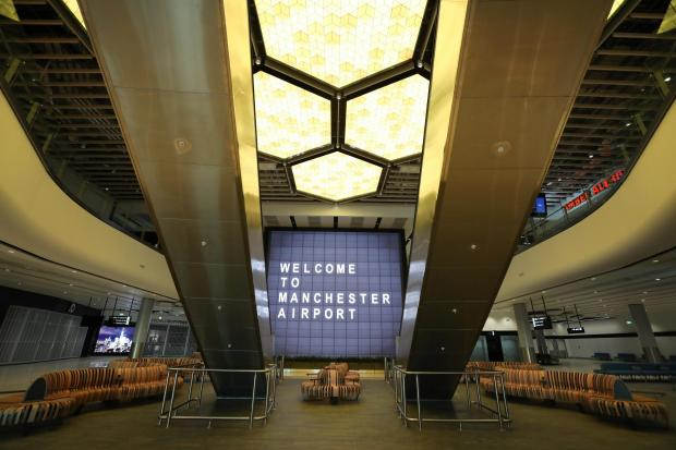 Knutsford Guardian: The new departure lounge features a honeycomb light installation
