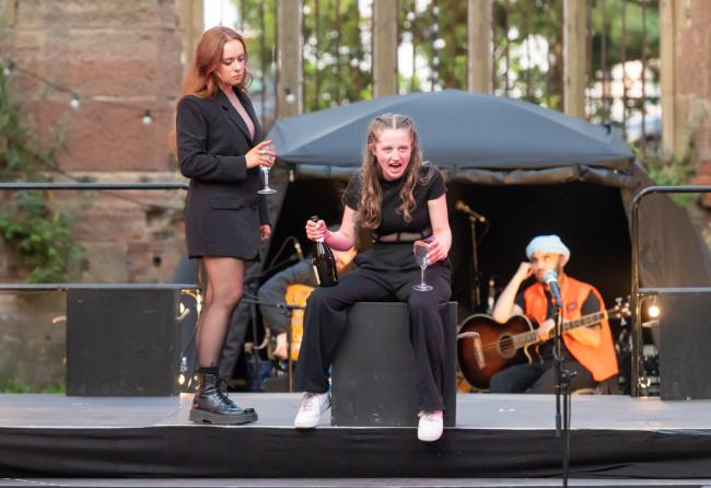 Macbeth, performed at St Luke's bombed out church. Photo: Brian Roberts photography
