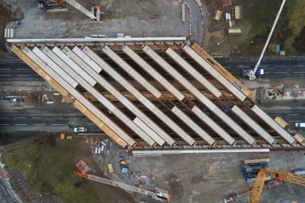 new M6 bridge aerial shot