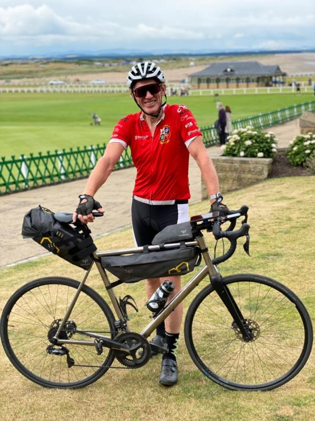 Knutsford Guardian: James Whittaker completed a staggering 3,500 cycle around the British coast, raising more than £50,000 for WaterAid