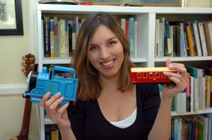 Liz Syed with Thomas and carriage