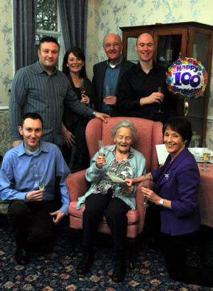 Betty Don marks her 100th birthday with family and friends