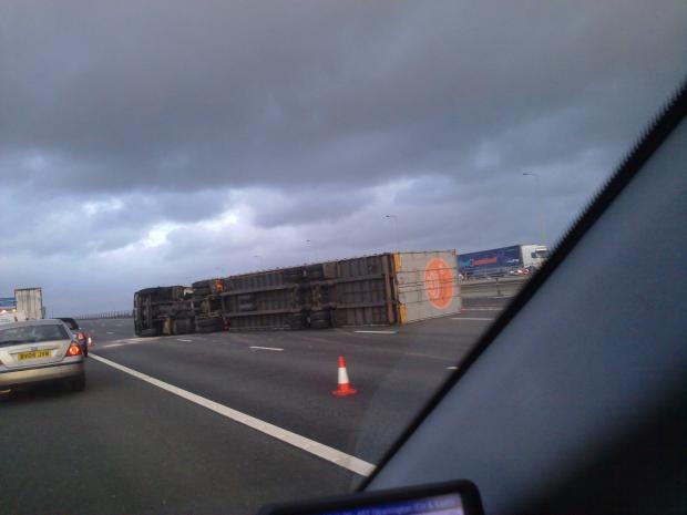 Thelwall Viaduct closed due to high winds