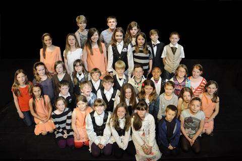 The cast of Bugsy Malone