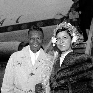 Nat 'King' Cole and his wife Maria Hawkins Cole (AP)