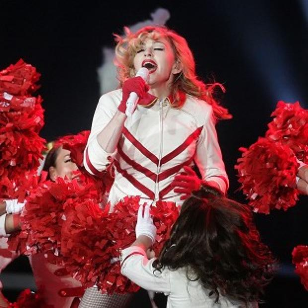 Madonna performs at Murrayfield stadium