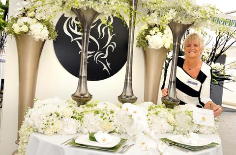 Lynn Millar of The Black Rose won a gold medal for her floral design display  	n123137