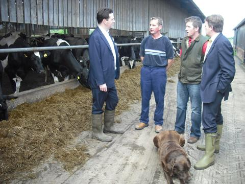MP George Osborne takes farmers' milk price concerns to Downing Street