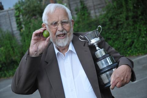 Tom McCartney clinched top prize at the Goostrey Gooseberry Show after 64 years of trying