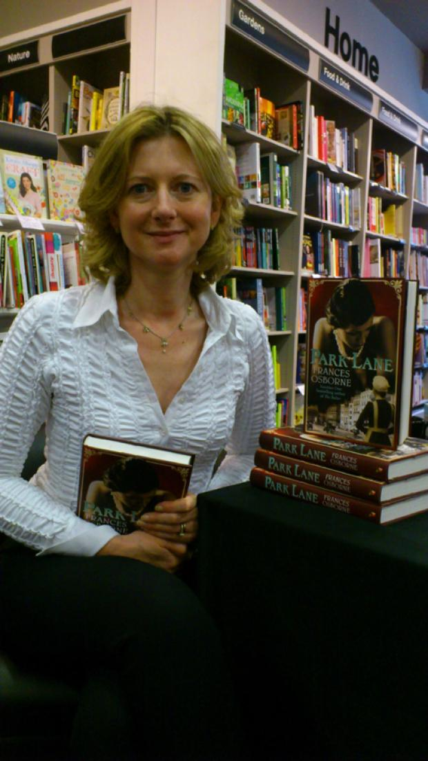 Frances Osborne at the book signing