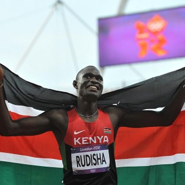 David Rudisha clocked one minute 40.91 seconds in the 800m