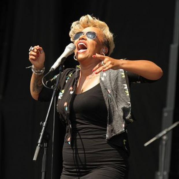 Emeli Sande performs on the Virgin Media Stage at the V Festival in Hylands Park, Chelmsford
