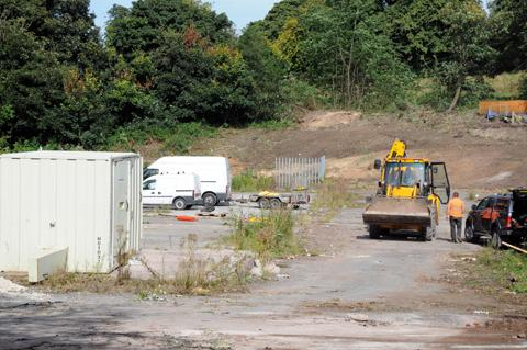 The trees at the back of the site have been cut down legally, according to Aldi and Cheshire East Council                                                                                              n123834