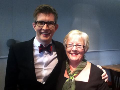 Dianne with  choirmaster  Gareth Malone