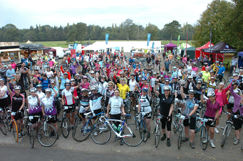 Cycletta participants at last year's event, with inset, Victoria Pendleton