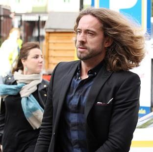 Justin Lee Collins is accused of harassing his former girlfriend