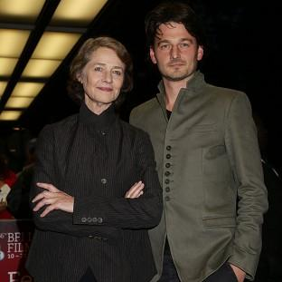 Charlotte Rampling and her son Barnaby Southcombe, who directed her in I, Anna
