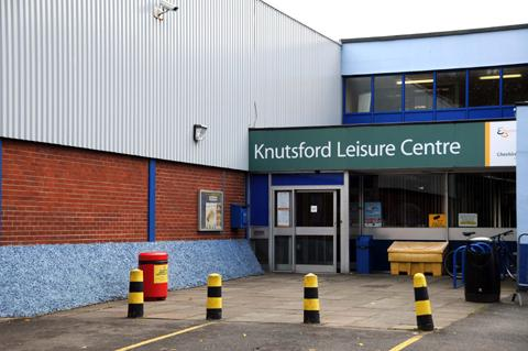 Knutsford Leisure Centre on Westfield Drive 	n124378