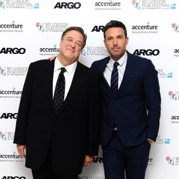 John Goodman and Ben Affleck arrive at the screening of new film Argo