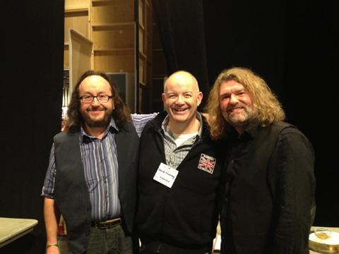 David Mooney with the Hairy Bikers at the BBC Good Food Scotland show