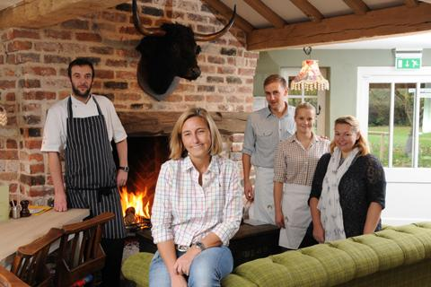 Sharon Bardsley, front, with ,from left, chef Pavol Spevar, assistant manager Roy Gibbs, Katie Rooney, one of the bar staff, sales and marketing director Emma Williams   n1247162