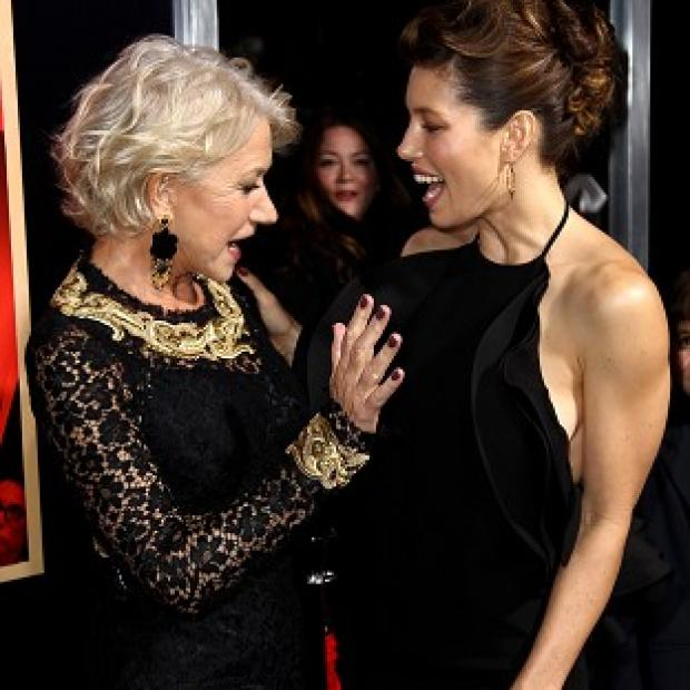 Knutsford Guardian: Dame Helen Mirren and Jessica Biel attend the LA premiere of Hitchcock