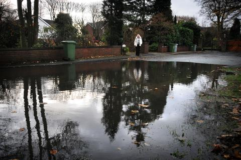 Norma Aidley takes a look at the latest flooding outside her home