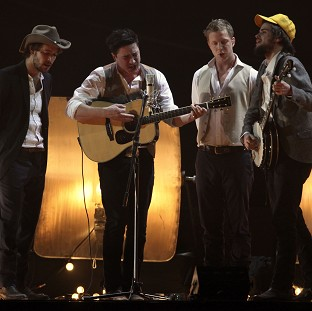 Mumford And Sons are nominated for the album of the year Grammy for Babel (AP/Joel Ryan)