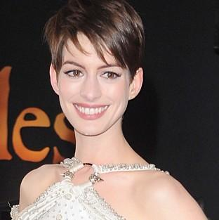 Anne Hathaway at the world premiere of Les Miserables in London