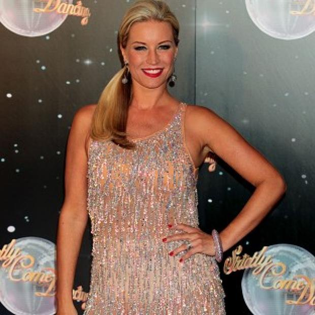 Knutsford Guardian: Denise Van Outen is happy to have got so far in this year's Strictly Come Dancing