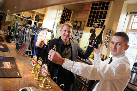 Lee Atkins, left, and Trevor Roberts are preparing for the festive season at the Legh Arms                                 n125112