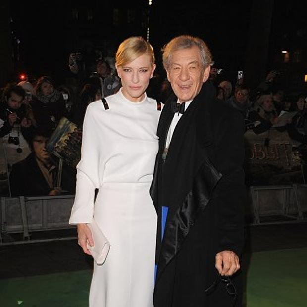 Knutsford Guardian: Cate Blanchett and Sir Ian McKellen arriving for the UK premiere of The Hobbit: An Unexpected Journey