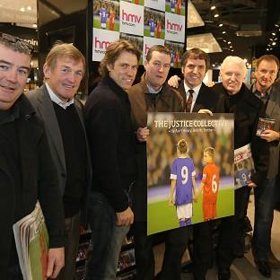 Kenny Dalglish and John Bishop were at the launch of the Hillsborough single