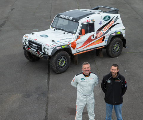 Chris, left and Rick, are hoping to complete the Dakar rally, held in South America, this month