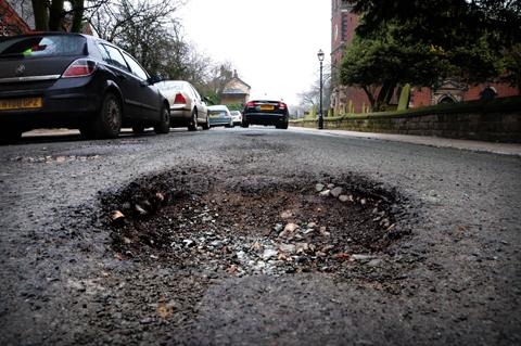 A pothole in Church Hill