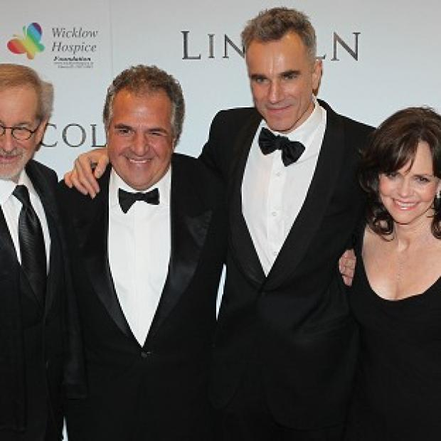 Knutsford Guardian: Steven Spielberg, Jim Gianopulos, Daniel Day-Lewis and Sally Field at the Savoy cinema in Dublin, for the European premiere of Lincoln