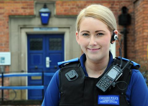 PCSO Sophie Emmerson has begun work at Knutsford Police Station