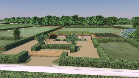 An artist's impression of the food and farming centre