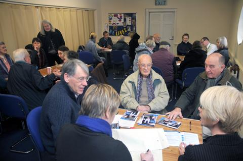 Knutsford residents attend the meeting in St John's Hall on January 25                                            s130414