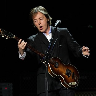 Sir Paul McCartney was a guest at the Rolling Stone party in New Orleans ahead of the Super Bowl