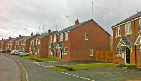 The new housing estate on Marthall Lane in Ollerton