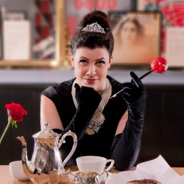 Kirstie Allsopp transformed into Audrey Hepburn's character Holly Golightly from Breakfast At Tiffany's