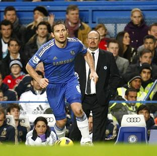 Rafael Benitez beliieves Frank Lampard, left, can maintain his standards until 2014
