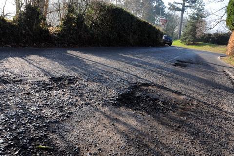 Potholes on Leycester Road deemed 'not critical' enough to  be repaired    n130883