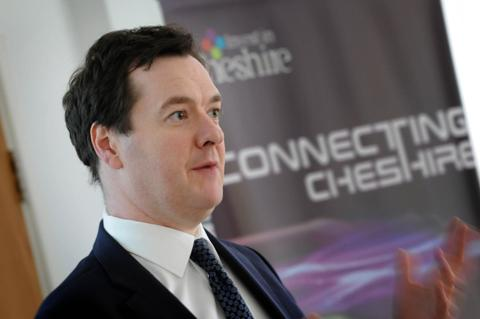 Tatton MP George Osborne speaks to the audience