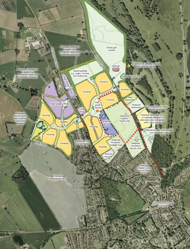 The master plan for north west Knutsford as drawn up by Tatton Estate Management and Crown Estates