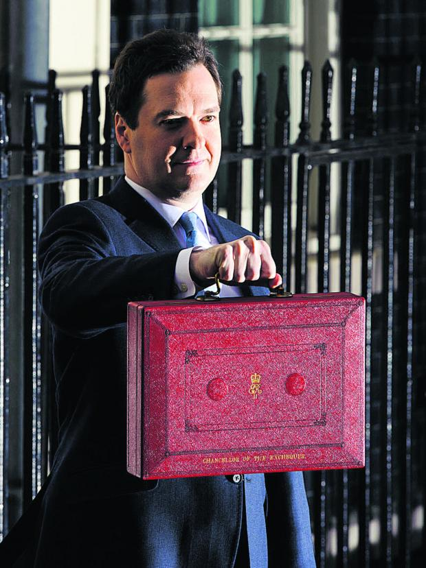 George Osborne presenting his budget yesterday, Wednesday.
