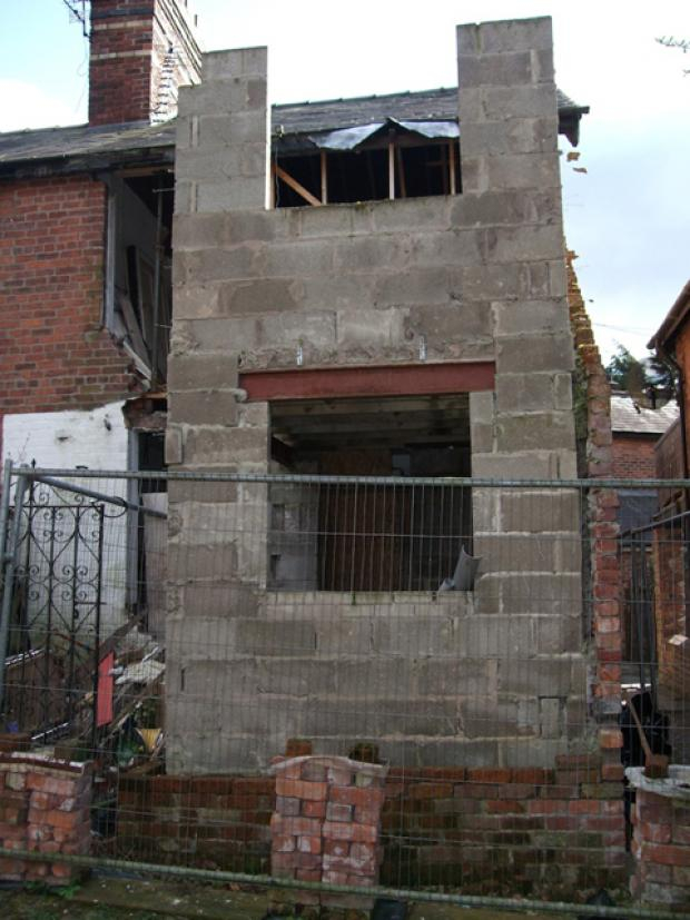 Knutsford Guardian: Rear of the house on Sparrow Lane